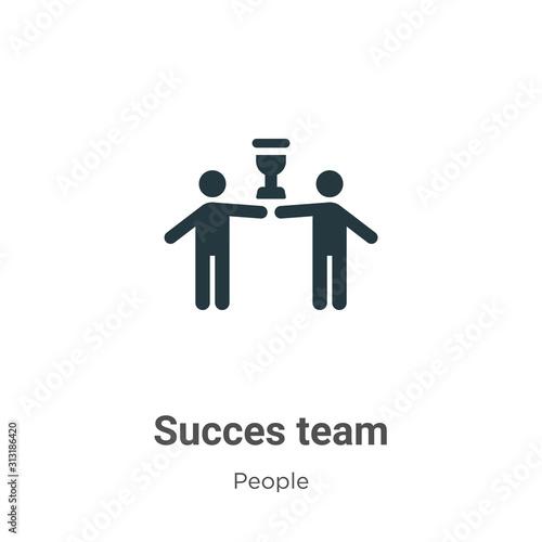 Fényképezés Succes team glyph icon vector on white background