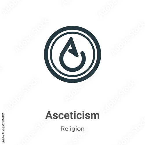 Asceticism glyph icon vector on white background Canvas Print