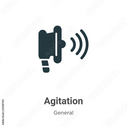 Agitation glyph icon vector on white background Canvas Print