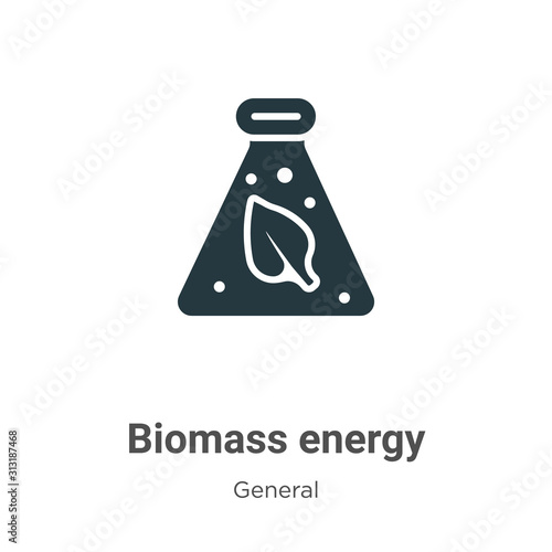 Biomass energy glyph icon vector on white background Canvas Print