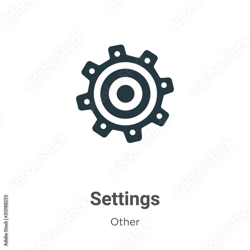 Settings icon glyph icon vector on white background. Flat vector settings icon icon symbol sign from modern other collection for mobile concept and web apps design. Wall mural