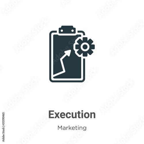 Cuadros en Lienzo  Execution glyph icon vector on white background