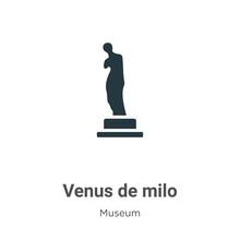 Venus De Milo Glyph Icon Vecto...