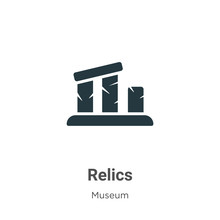 Relics Glyph Icon Vector On Wh...