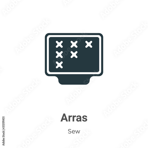 Photo Arras glyph icon vector on white background