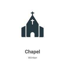 Chapel Glyph Icon Vector On Wh...