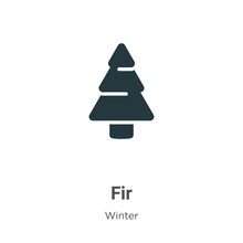 Fir Glyph Icon Vector On White...