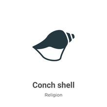 Conch Shell Glyph Icon Vector ...