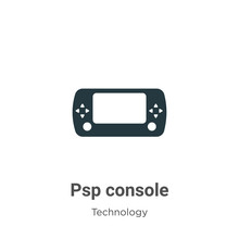 Psp Console Glyph Icon Vector On White Background. Flat Vector Psp Console Icon Symbol Sign From Modern Technology Collection For Mobile Concept And Web Apps Design.