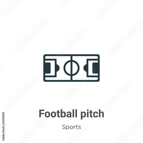 Obraz Football pitch glyph icon vector on white background. Flat vector football pitch icon symbol sign from modern sports and competition collection for mobile concept and web apps design. - fototapety do salonu