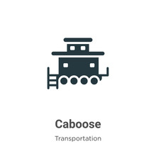 Caboose Glyph Icon Vector On White Background. Flat Vector Caboose Icon Symbol Sign From Modern Transportation Collection For Mobile Concept And Web Apps Design.