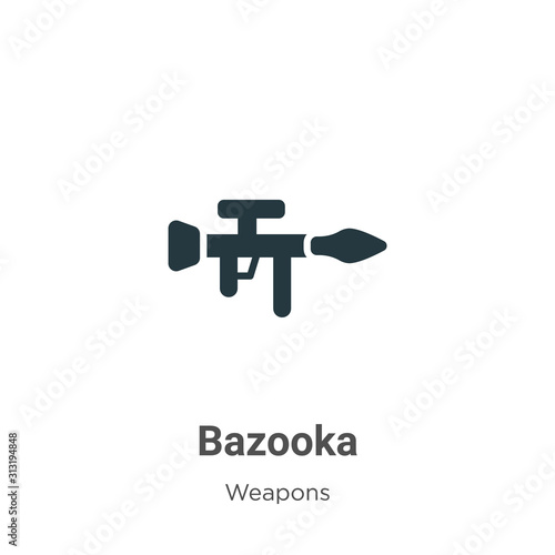 Photo Bazooka glyph icon vector on white background