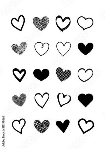 zestaw-kulas-czarne-serca-kolekcja-ksztaltow-serca-rysuje-reke-symbol-milosci-elementy-projektu-karty-walentynki-wektor-serca-ilustracji-wektorowych