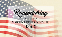 Remembering Martin Luther King, Jr. Day Greeting Card Vector Illustration