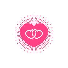 Flat Symbol Valentine Heart To...