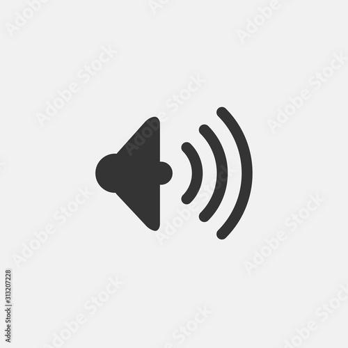 Cuadros en Lienzo  volume speaker icon vector illustration symbol