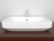 Bathroom Basin With Faucet. In...