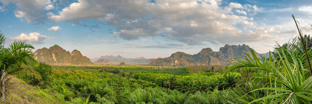 Fototapeta Beautiful tropical landscape in Khao Sok National Park, Thailand