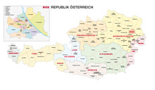 New Administrative And Political Map Of Austria In German Language, 2020
