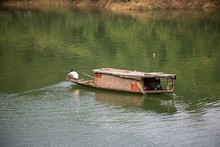 Boat And Fisherman At Furong T...