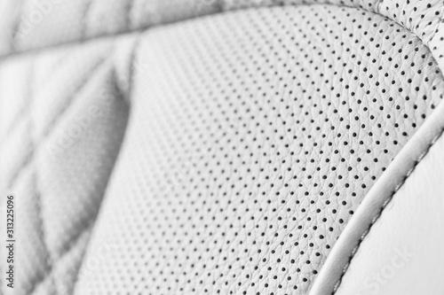 Modern luxury Car white leather interior Fototapeta
