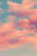 Leinwandbild Motiv sky with pink clouds background image