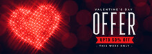 Valentines Day Offer Banner Wi...
