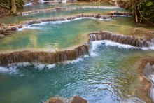 Terraced Pools, Kuang Si Water...