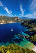 Aerial Of Mediterranean Bay On...