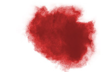 Red Powder Explosion Isolated ...