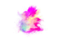 Colorful Powder Isolated On White Background.
