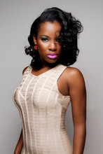 Exotic Ethnic Afro Beauty, Afro Woman With Glowing Skin And Shiny Hair