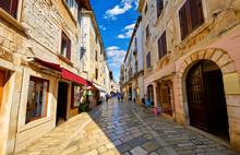 Croatia Porec. Central Street ...