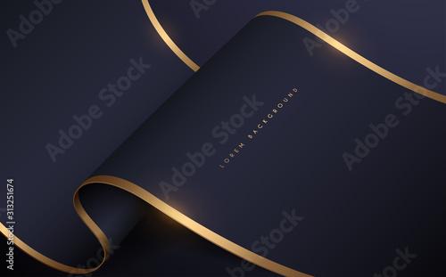 Fényképezés Abstract dark and gold silk background