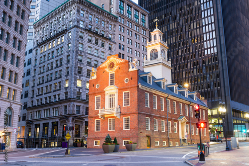 Obraz Boston, Massachusetts, USA Old State House - fototapety do salonu