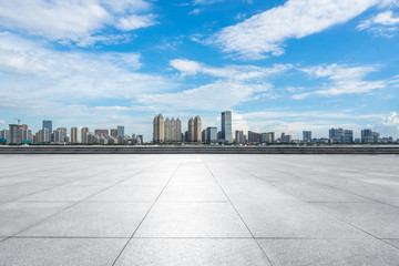 city skyline in wuhan china