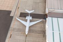 White Unbranded Private Jet Pl...