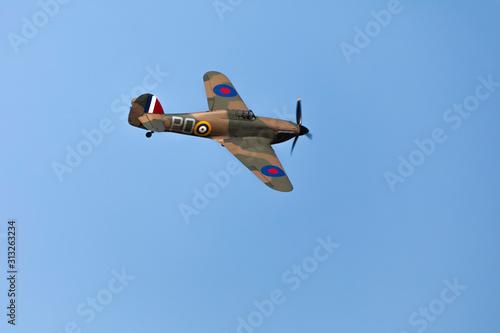 British World War 2 plane flying Canvas Print