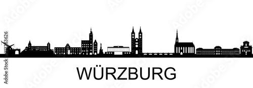 Wuerzburg Skyline Fotobehang