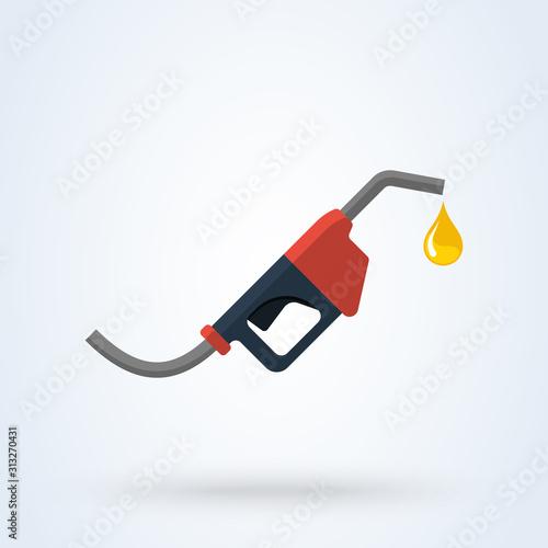 Photo Fuel pump, Petrol station flat style vector modern design illustration