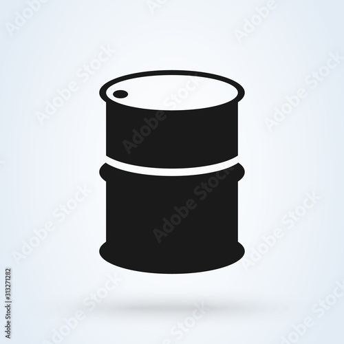 Fototapeta oil barrel Simple modern icon design illustration. obraz
