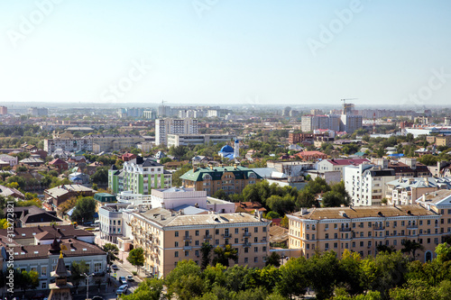 Photo Top view of the city of Astrakhan. Russia