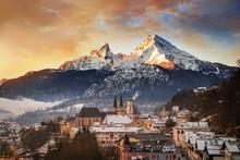 Blick Auf Berchtesgaden Mit Wa...
