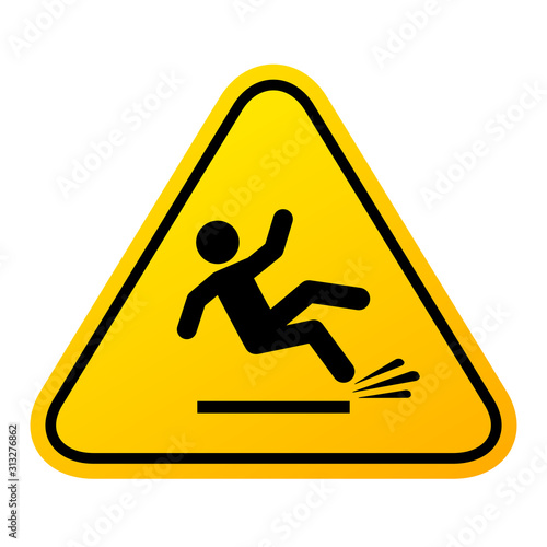 Slippery floor sign