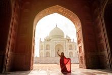 Indian Woman In Red Saree/sari...