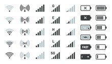Battery And Signal Icons. Smar...