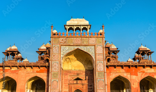 Tomb of Akbar the Great at Sikandra Fort in Agra, India Canvas Print