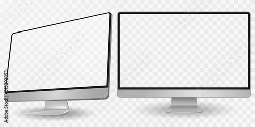 Computer display in two angles Canvas Print