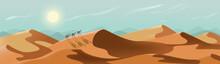 Desert Landscape. Sunny Nature...