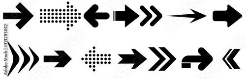 Obraz Arrows. vector design elements set. Arrows big black set icons. Arrow icon - fototapety do salonu
